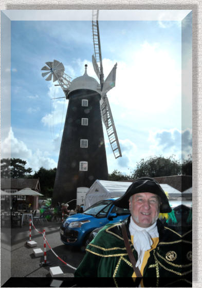 The Town Crier busy on Lincolnshire Day